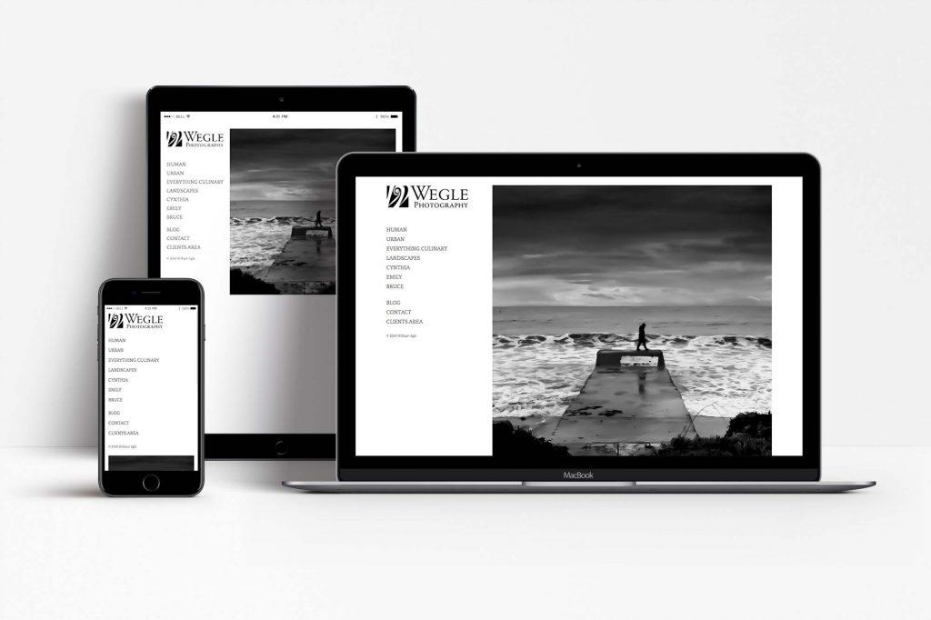 Wegle Photography responsive display